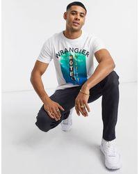 Wrangler Good times - T-shirt imprimé - Blanc