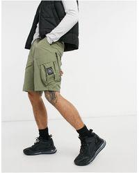 Marshall Artist – funktions-cargo-shorts aus polyamid-baumwollgewebe - Grün