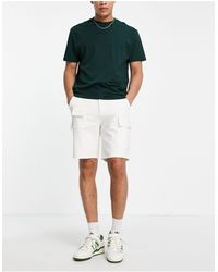 ASOS Relaxed Skater Shorts With Cargo Pockets - White
