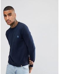 Pretty Green - Hinchcliffe Crew Neck Sweater In Navy - Lyst
