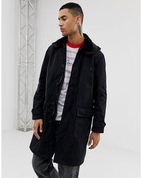 ASOS Lange Trenchcoat - Zwart