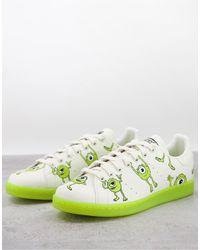 adidas Originals Бело-зеленые Кроссовки С Майком Вазовски X Disney Sustainable Stan Smith-белый