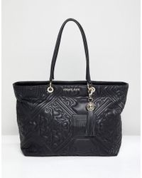 Versace Jeans - Baroque Quilted Tote - Lyst