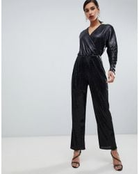 Y.A.S All Over Sequin Wideleg Jumpsuit - Black