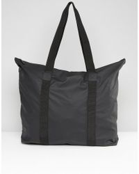 Rains - Large Tote Bag In Black - Lyst