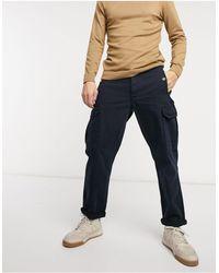 TOPMAN Wide Leg Cargo Trousers - Blue