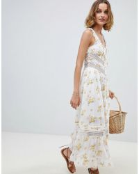 RahiCali Meadow Blooms Lace Dress - White