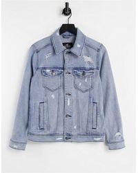 Hollister Синяя Выбеленная Джинсовая Куртка -голубой - Синий