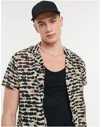 Another Influence Revere Animal Print Short-sleeved Shirt - Black