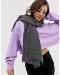ASOS - Lightweight Recycled Polyester Scarf - Lyst