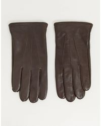 ASOS Brown Leather Gloves