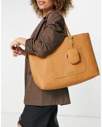 Steve Madden Curtis - Tote bag avec porte-monnaie - Fauve - Marron