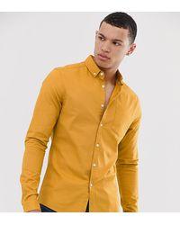 ASOS Tall - Skinny Casual Oxford Overhemd - Geel