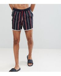 ASOS - Short de bain coupe courte style running rayures - Lyst