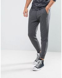 Hollister - Cuffed Joggers Skinny Fit Icon Logo In Dark Gray - Lyst