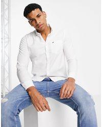 Hollister Icon Logo Slim Fit Oxford Shirt - White
