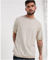 River Island - Светло-бежевая Oversize-футболка -neutral - Lyst
