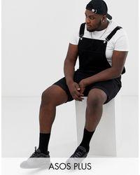 ASOS Plus Shorts Overall - Black