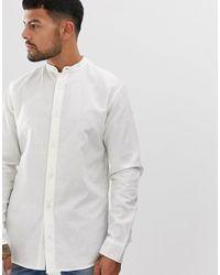 Jack & Jones Overhemd Zonder Kraag - Wit
