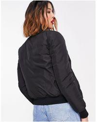 Love Moschino Черная Куртка-бомбер С Светящимся Логотипом Спереди -черный