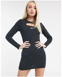 Reebok Черное Платье Мини С Вырезом И Логотипом Эксклюзивно Для Asos-фиолетовый - Пурпурный
