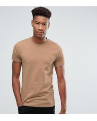 Farah - Tall Farris Slim Fit T-shirt In Brown - Lyst