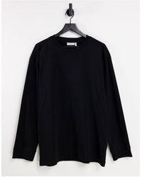 Weekday - Camiseta negra extragrande - Lyst