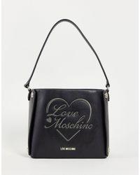 Love Moschino Черная Сумка-ведро С Логотипом -черный Цвет