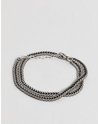 Seven London - Chain Bracelet In Silver - Lyst