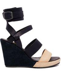 G-Star RAW Blondell Pinkerton Wedge Sandals - Blue