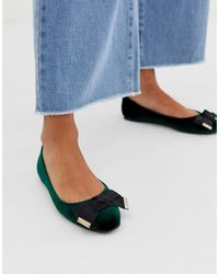 ASOS Logical Bow Ballet Flats - Green