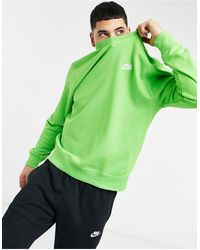 Nike Club - Sweater Met Ronde Hals - Groen