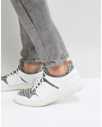 Call It Spring - Servan Knitted Trainers In White - Lyst