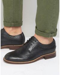 Bellfield Brogues In Black Leather