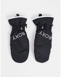 Roxy Черные Варежки Jetty Solid Ski-черный