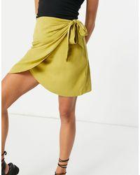 NA-KD Co-ord Wrap Mini Skirt - Green