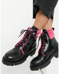 Tommy Hilfiger Черные Ботинки С Цветными Шнурками Pop-черный