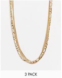Weekday Collar multicadenas dorado Unity - Metálico