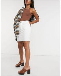 Object Win Denim Skirt - White