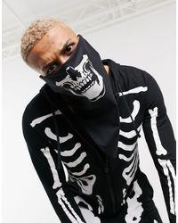 ASOS Halloween - Bandana à imprimé tête - Noir