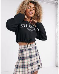 Bershka Atlanta - Cropped Sweater - Zwart