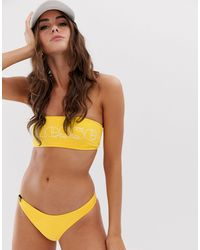 Ellesse High Leg Bikini Bottom - Yellow