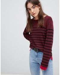 B.Young - Stripe Fine Knit Sweater - Lyst