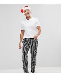 River Island | Christmas Stripe Pyjama Set In White | Lyst