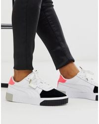 Cali Remix White Colourblock Sneakers-multi
