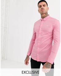 Jack Wills Stretch Skinny Fit Poplin Shirt - Pink