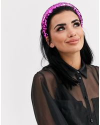 ASOS Padded Headband With Pink Sequin Embellishment