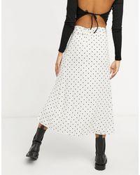 Warehouse Spot Belted Midi Skirt - Multicolour