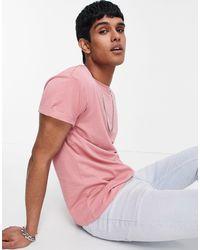 New Look Розовая Футболка С Отворотами На Рукавах Из Органического Хлопка -розовый Цвет