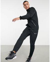Nike Football Черный Спортивный Костюм С Белой Отделкой Academy-черный Цвет